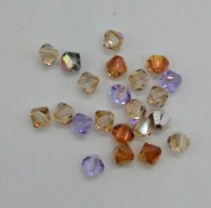 22pc Swarovski Crystal 6mm Bicone Beads; Crystal Effects; CLEARANCE