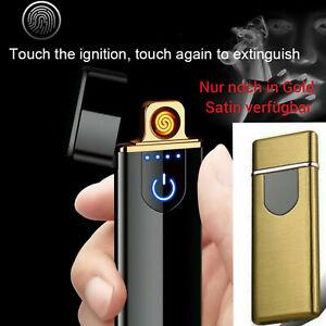 Elektro Feuerzeug GOLD USB Lichtbogen Touch-Induktion Plasma Lighter Spirale