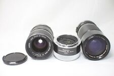 Lot of 3 Canon New FD 70-150mm F4.5 35-70mm F4 Extender 2X-A Lens Made In Japan