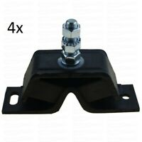 "SET of 4 pcs engine mount for Yanmar ""V"", replaces 129470-08350"