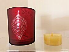 Yankee Candle~FLICKERING LEAVES TEALIGHT HOLDER~ Crimson~New!~Bonus Tealight!!