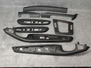 BMW 3 Series e46 COUPE Black Alu Cube Aluminium Interior trim LHD
