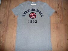 SUPERB ORIGINAL MENS ABERCROMBIE & FITCH GREY T SHIRT SIZE SMALL