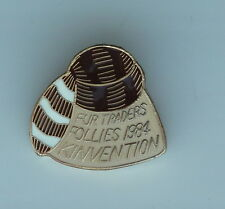 Kinsmen Kinettes Kinvention Fur Traders Follies 1984 Lapel Souvenir PIN