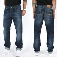 Nudie Herren Regular Tapered Fit Jeans Hose - Sharp Bengt Org. Rough Twill