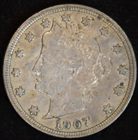 1907 Liberty Nickel, V Nickel, Extremely Fine Details, Polished, C4709
