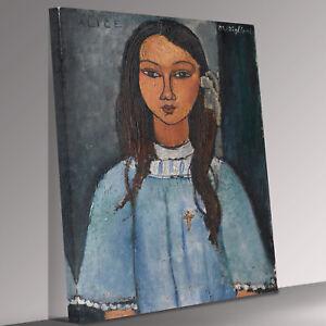 Amedeo Modigliani  Alice Canvas Wall Art Picture Print