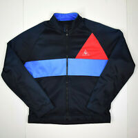 Le Coq Sportif Athletic Jacket Sz M vtg Colorblock Silky Polyester 1975 Logo