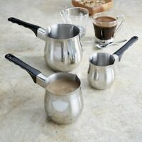 High Quality Stainless Steel Turkish Coffee Maker Pot / Coffee Milk Warmer Pot