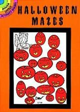 HALLOWEEN MAZES, Little Activity Book, 48 puzzles, solutions, each with caption