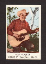 Roy Rogers Guitar Cowboy Vintage 1960s Movie Film Star TV Card from Sweden #F79