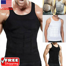 Mens Slimming Compression Body Shaper Vest Shirt Abs Abdomen Sports Body Shapers