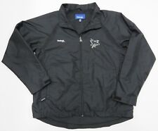 NHL San Jose Sharks REEBOK Hockey Black Full Zip Up Jacket Adult Men's Size L