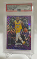 2019 Panini Prizm Purple Wave #129 LeBron James Lakers PSA 10 GEM MINT pop 36!!