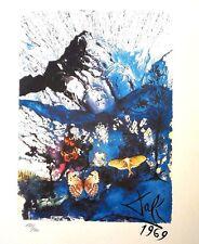 Salvador Dali original Lithographie Frankreich S.N.C.F. Israel Alpes Figueras