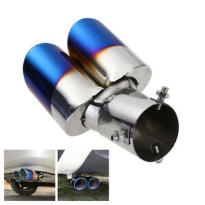 1pcs 57mm Universal Stainless Steel Curved Exhaust Muffler Tail Pipe Tip Tailpipe Pipes Fit for All Car