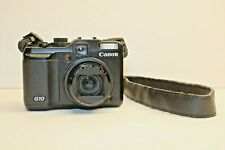 Canon PowerShot G10 14.7 MP Digital Camera - Black ( crack on screen) no charger