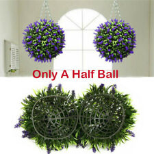 30cm Topiary Half Ball Artificial Lavender Buxus Flower Hanging Basket Plant
