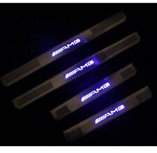 Blue LED Light Door Sills Scuff Plate fits Mercedes-Benz E-Glass AMG W210 W211