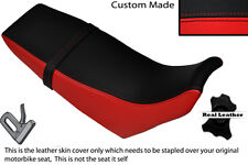 BLACK & RED CUSTOM FITS YAMAHA DT 125 RE 04-07 DUAL LEATHER SEAT COVER
