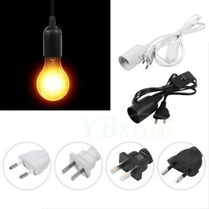 E27 172cm Modern Cable Cord Plug In Pendant Lamp Light Bulb Holder With Switch