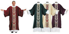 Set of 4 Colors Red Purple Cream and Green Coronation Dalmatic