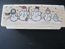 Snowmen Rubber Stamp by Hero Arts 2 3/4