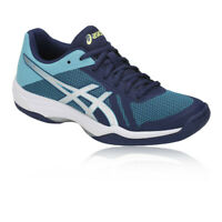 Asics Womens Gel-Tactic 2 Court Shoes Blue Navy Breathable Lightweight Trainers