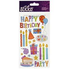 EK Success Scrapbooking Stickers Sparkly Penguins Glitter Snowflake Sticko Winte