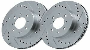 Drilled and Grooved Front Brake Discs For Ford Focus ST170