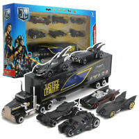 Set of 7 Batman Batmobile & Truck Car Model Toy Vehicle Metal Diecast Kid Gift