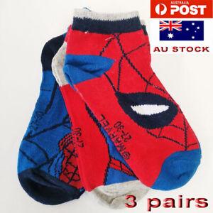 3 pairs Kids Boys Spiderman Ankle Socks