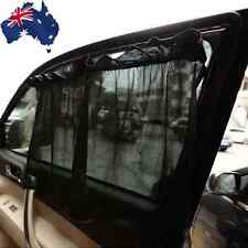 1 Pair Black Car Sun Shade Curtain Suction Cup UV Proof Side Window VWCUR6805