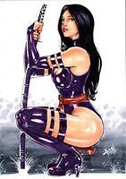 MARVEL Comics PSYLOCKE Original Art X-MEN WOLVERINE PHOENIX GAMBIT CYCLOPS X-23