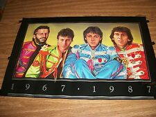 VERY RARE BEATLES POSTER 1967 TO 1987 0-87 MARK CASTELLITTO