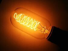 Simple Vintage T45 Radio Edison Light Bulb E26 60W 120V Clear Spiral Filament