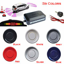 CAR LED DISPLAY REVERSING REVERSE PARKING 4 SENSOR RADAR KIT BUZZER ALARM NEW