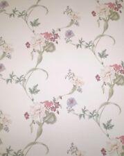 Vintage Dark Mauve, Pink, Purple & White Floral by International Fm7232