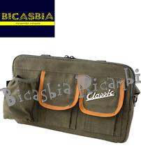 3399 - BORSA SIP Classic VERDE OLIVA IN CANVAS PER SPORTELLO BAULETTOVESPA