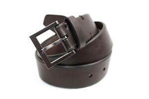 Kenneth Cole Reaction Men's Beveled-Edge Belt Brown Size 40