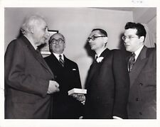Albert Einstein Princeton 14 août 1951 tirage de presse