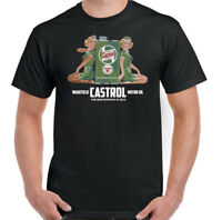 CASTROL OIL T-SHIRT Pinup Girl Car Engine Motorbike Motorcycle Biker F1 Rally
