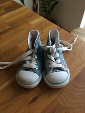 Converse All Star Baby Boys Blue trainers at size Infants UK3 EU19.