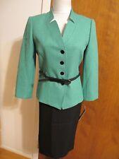 Tahari Asl Women's green black 2 Piece Skirt Suit Size 4 NWT