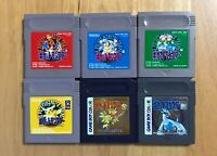 Nintendo GameBoy Color Pokemon Red Green Blue Yellow Gold Silver Set Tested jp
