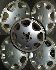 "FULL SET 5 Mercedes w140 16"" Alloy Wheels & Centre Caps 8Jx16 H2 S-Class S500"