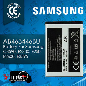 100% NEW REPLACEMENT AB463446BA AB463446BU BATTERY FOR SAMSUNG C3590 E900 800MAH