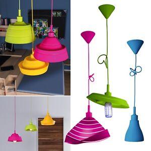 "Silikon Pendel-Leuchte ""BLUES"" faltbar 230V E27 40W höhenverstellbar Hänge-Lampe"
