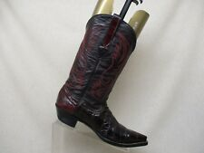 Corral Burgundy Leather Eel Skin Cowboy Western Boots Womens Size 8 EE Style 725