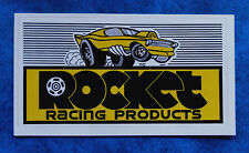 ROCKET RACING PRODUCTS .. Vintage  Racing  sticker .. SHELBY MUSTANG
